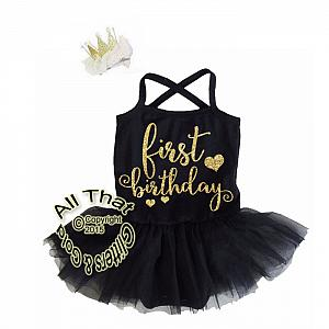 Cute 2 Piece Tutu Dresses For Babies First Birthday