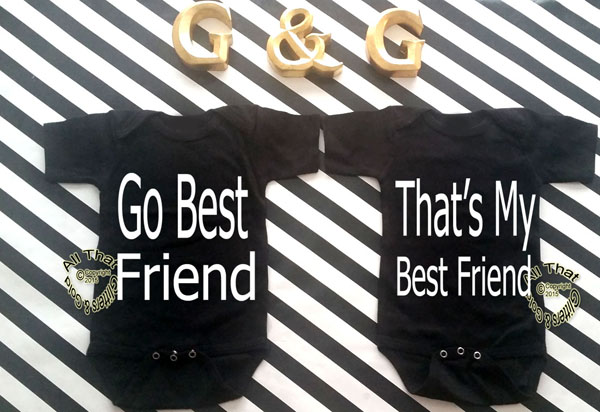 Black and White Go Best Baby Boy and Little Boys Best Friend Shirts