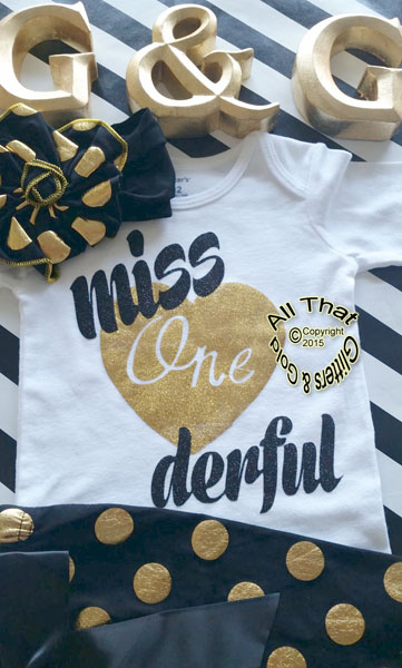 c0bad14886f2 ... Black and Gold Polka Dot Miss One Derful 1st Birthday Pants Outfits For Baby  Girl