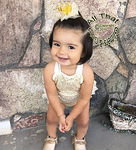 Glitter Gold Princess Hair Accessories Hair Clips Barrette For Baby Girls Toddler Girls