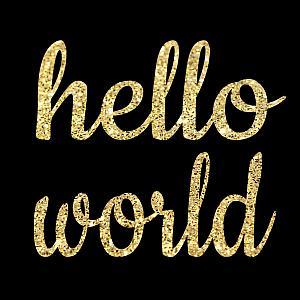 Hello World Glitter DIY Iron On Transfers For Shirts