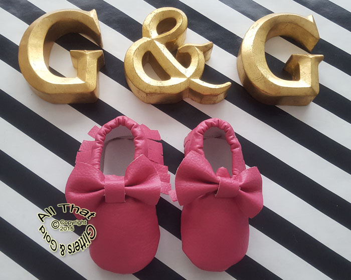 Hot Pink Soft Soled Baby Girl Moccasin Shoes With Bows