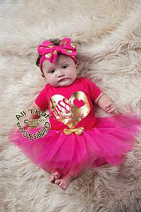 Tutu Skirts For Baby Girls and Little Girls With Gold Bow