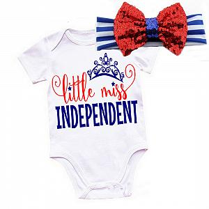Little Miss Independent 4th of July Shirt or Outfit For Girls
