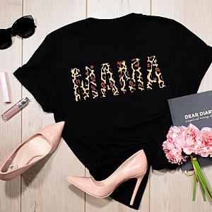 Mama Leopard Print Shirt For Women