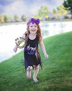 Mermaid Life Glitter Baby Girls and Little Girls Fringe Dress