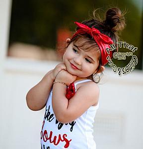 Metallic Knot Baby and Little Girls Stretch Headbands