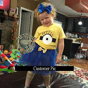 Cute Minion Birthday Tutu Costume For Baby Girls and Little Girls