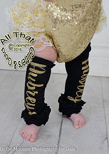Personalized Glitter Baby Girl Leg Warmers