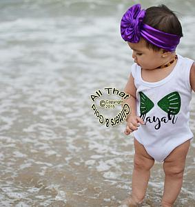 Personalized Mermaid Shells Shirt For Baby Girls and Little Girls