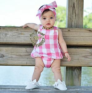Plaid Baby Girls & Little Girls Tank Sleeveless Bodysuits Romper Set