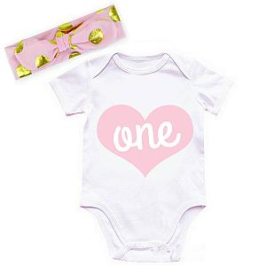 Pink and Gold One Year Old Shirt or Outfit For 1st Birthday