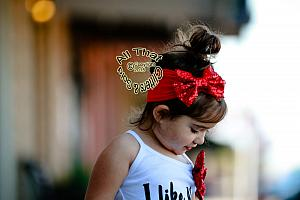 Red Sequin Baby and Little Girls Big Bow Headbands