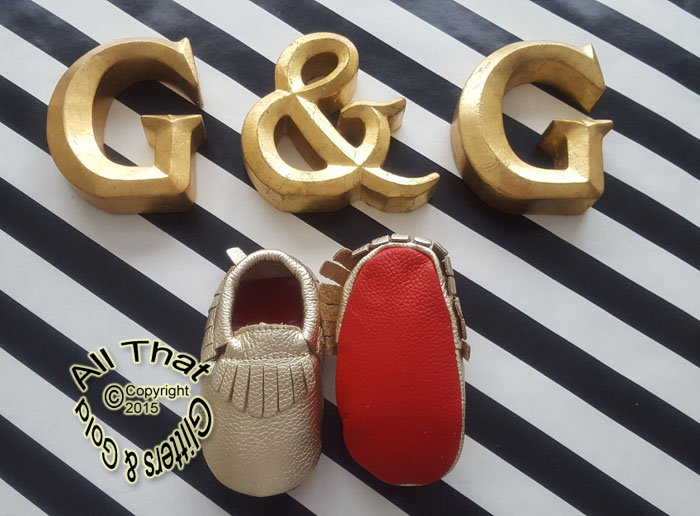 Leather Gold Soft Soled Baby Fringe Red Bottoms Moccasin Shoes
