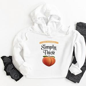 Simply Thick Cropped Hoodie