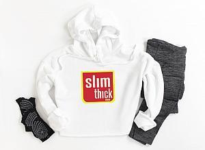 Slim Thick Cropped Hoodie