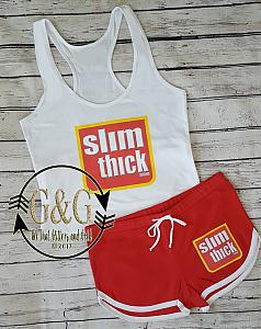 Cute Slim Thick Summer Shorts Outfit Set For Juniors and Women