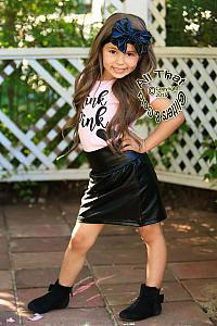 a102238c6f Black Leather Skirts For Baby Girls Toddler Little Girls Skirts Faux