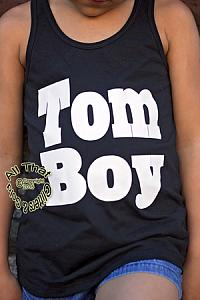 Black and White Tom Boy Shirts For Baby and Toddler Girls