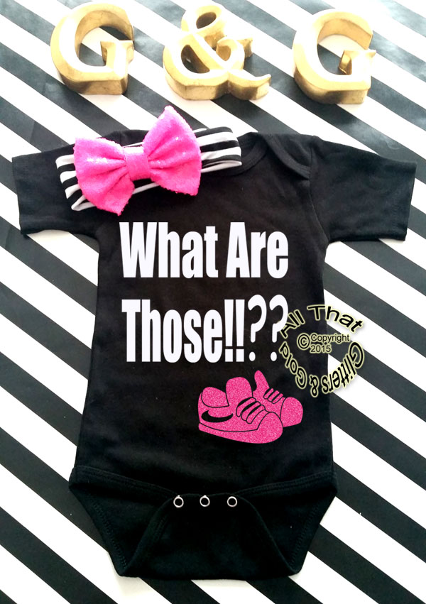 Black and Pink Glitter What Are Those Funny Baby Boy Onesies or Shirt