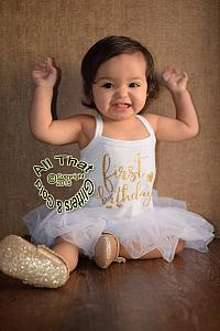 Cute Glitter First Birthday Tutu Dresses For Baby Girls First Birthday