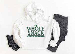 Whole Snack Cropped Hoodie