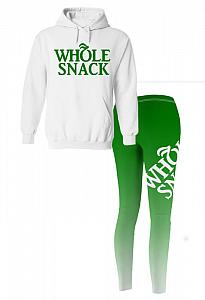 Whole Snack Workout Outfit Set With Leggings For Juniors and Women
