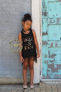 e6f3f819b28 ... Wild and Free Metallic Leopard Print Baby Girls and Little Girls Fringe  Dress ...