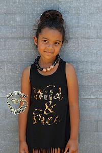 6930ef7c365 ... Wild and Free Metallic Leopard Print Baby Girls and Little Girls Fringe  Dress
